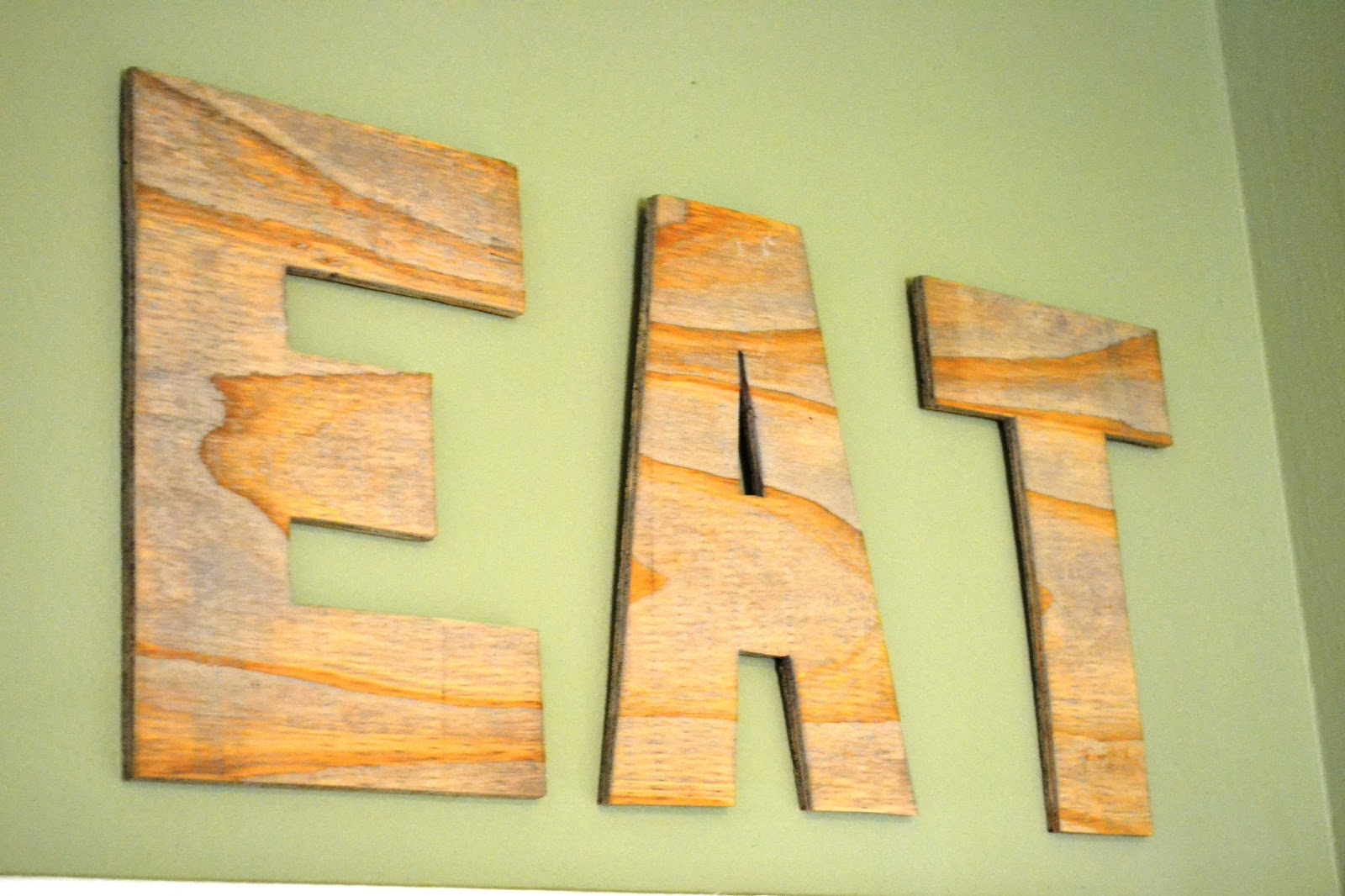 wooden signs for kitchen cabinet ideas small kitchens diy wood eat sign