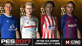 PES 2017 Option File Big Update & Fix 27-07-2018