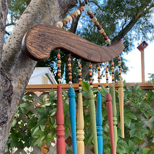 Easy Repurposed Antique Chair Spindle Wind Chimes