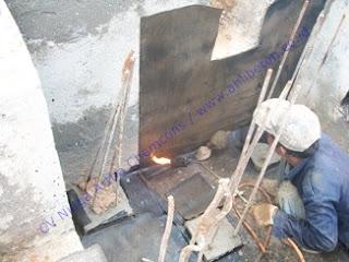 waterproofing membrane bakar pada retaining wall