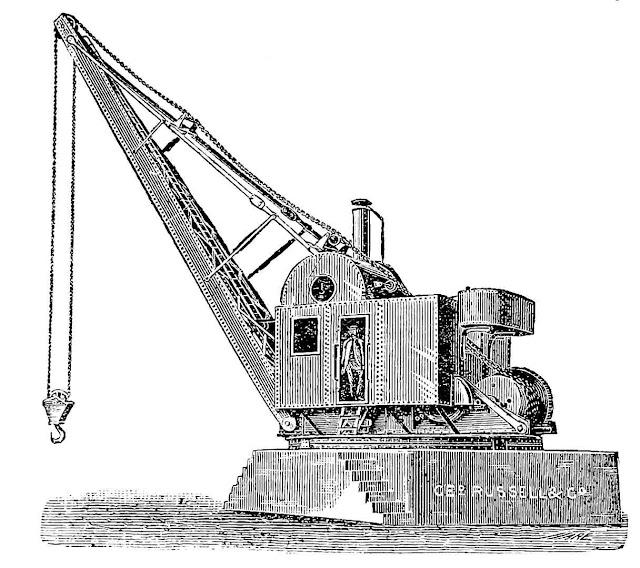 This 1902 industrial crane illustration