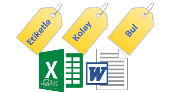Excel Ve Word Belgelerini Etiketleyin Ararken Kolayca Bulun-www.ceofix.com