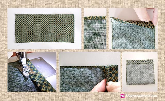 Cómo realizar una bolsita de tela, pasos 1 al 5