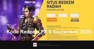 Kode Redeem FF 9 September 2020