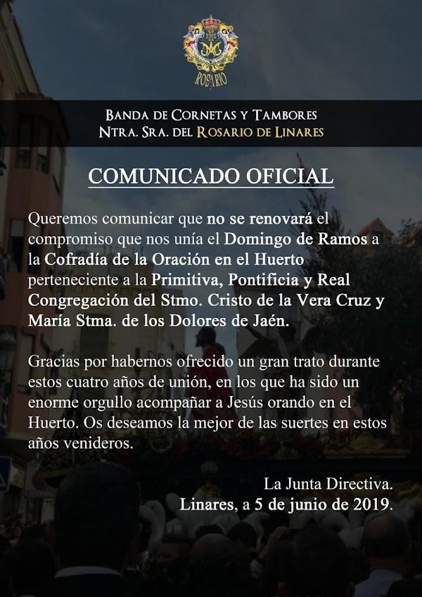 Rosario de Linares queda libre el Domingo de Ramos