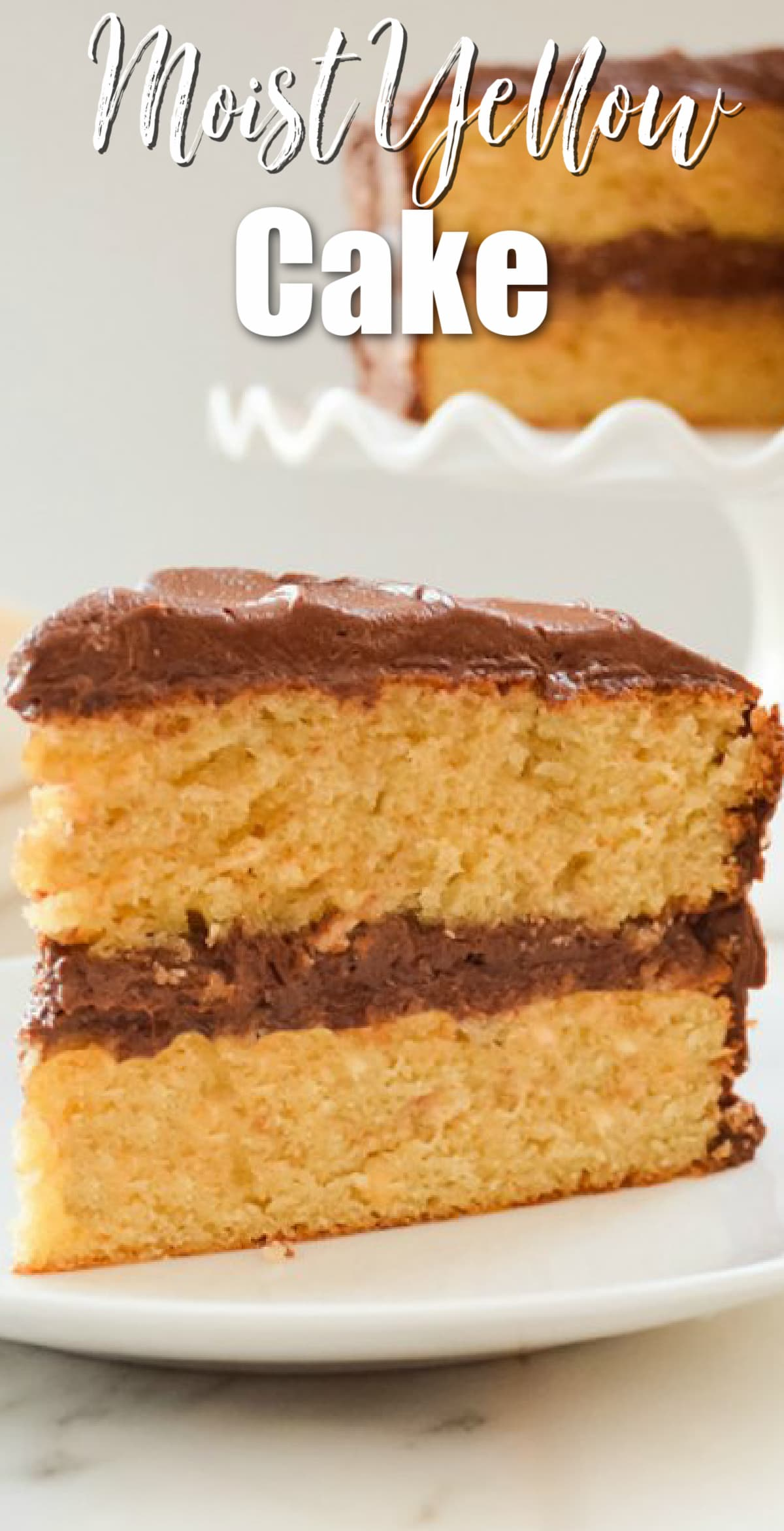 Moist Yellow Cake Slice