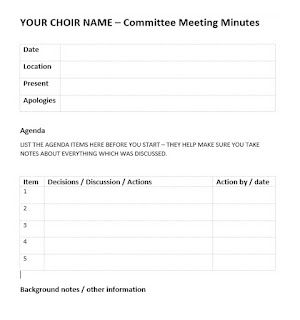 picture of meeting notes / minutes / records / decisions / actions / tracking sheet