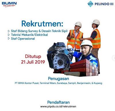 Rekrutmen Pandu PT Pelindo III (Persero) - Deadline : 21 Juli 2019