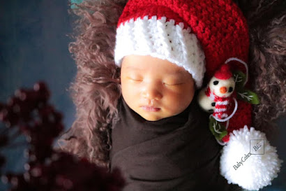 crochet baby santa hat traditional christmas hat for babies photo prop