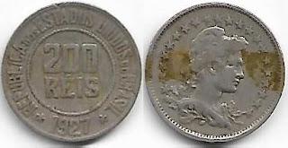 Moeda de 200 réis, 1927