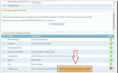 gambar cara Memperbaiki data kepegawaian perlu verifikasi dengan status BUKAN GURU di Info GTK
