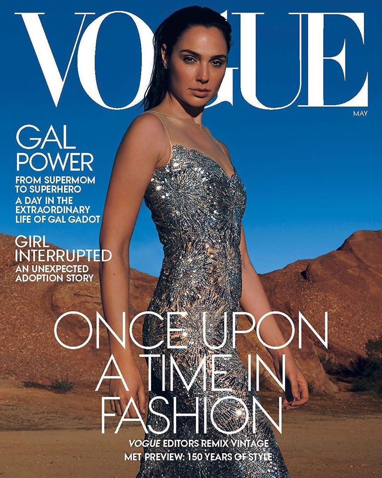 Gal Gadot sparkles for Vogue US May 2020