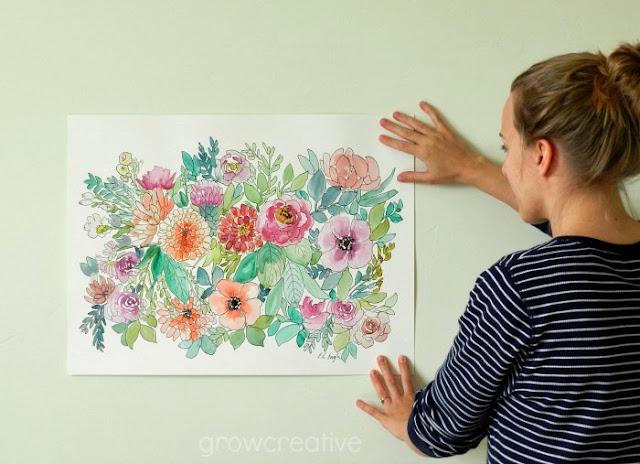 Elise Engh Watercolor Flowers: grow creative blog