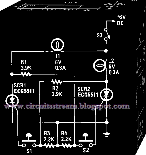Using two SCRs 1st 2nd Circuit Diagram