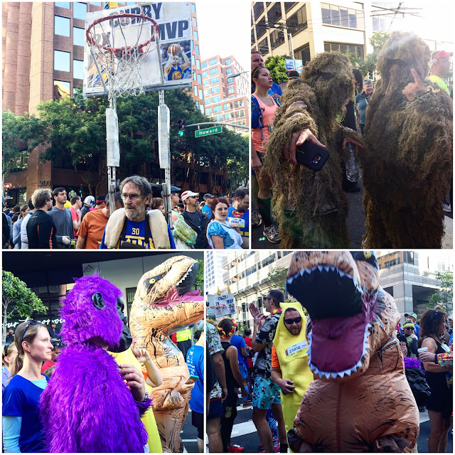 Bay to Breakers costumes in corral