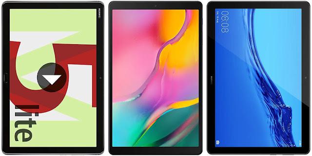 Huawei Mediapad M5 10 Lite 32 GB vs Samsung Galaxy Tab A 10.1 (2019) 64 GB vs Huawei Mediapad T5 10 64 GB