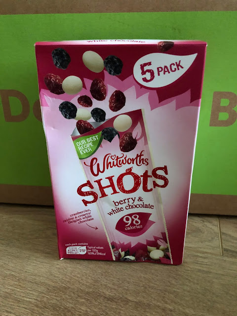 Whitworths Shots Berry & White Chocolate, ideal for snack or lunch box.