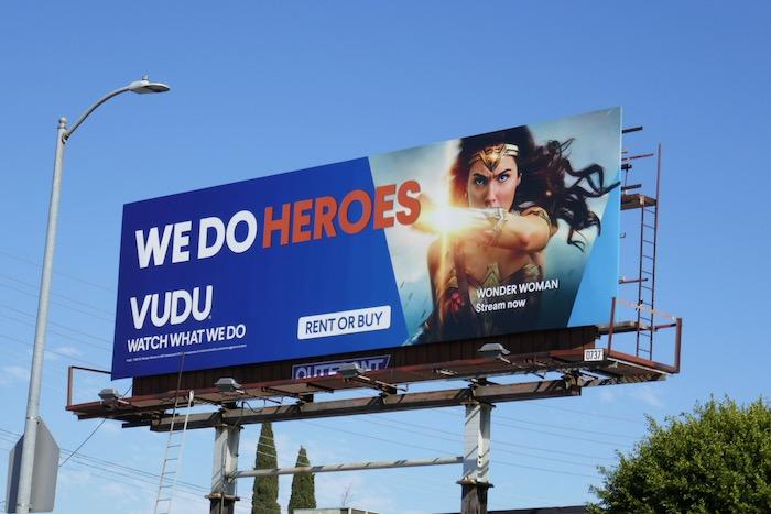 Vudu We do heroes Wonder Woman billboard