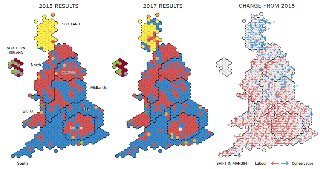How UK Voted: 2017 vs 2015