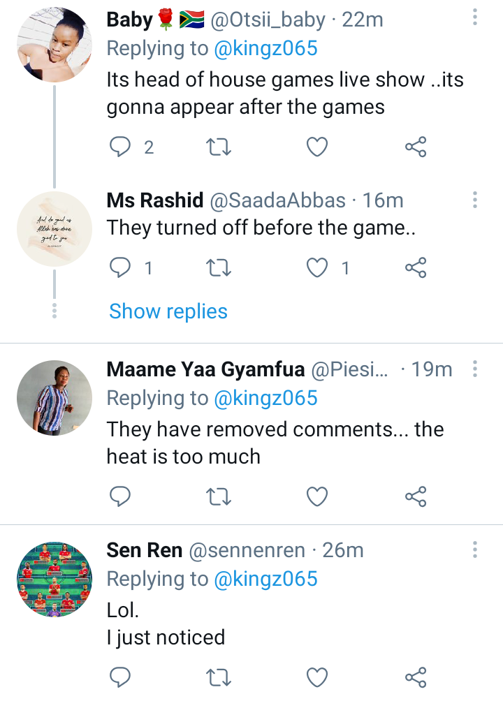 BBNaija: Nigerians react as Big Brother removes their comment section because of Pere's fans