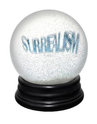 surrealism snow globe