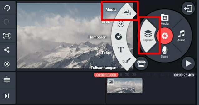 Cara Membuat Video Didalam Teks di Kinemaster