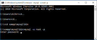 Menyambungkan Koneksi Server MySQL dan MariDB dengan CMD