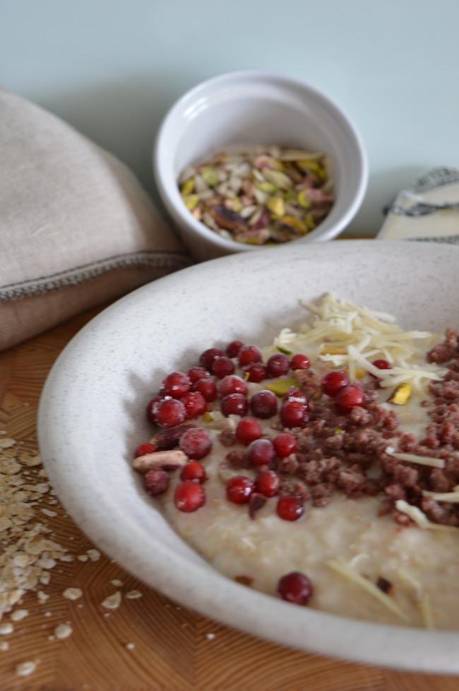suolainen kaurapuuro_ savory oatmeal_poropuuro