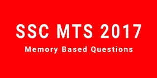 SSC MTS 2017 की परीक्षा में पूछे गए सामान्य जागरूकता के प्रश्नों का संकलन। PART - 01