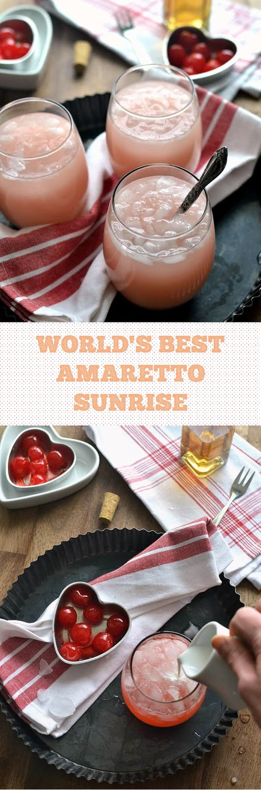WORLD'S BEST AMARETTO SUNRISE