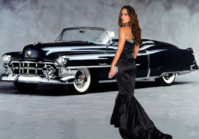 Zulay Henao posing in front of car