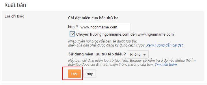 Hướng dẫn cài đặt trỏ tên miền cho Blogger - 6