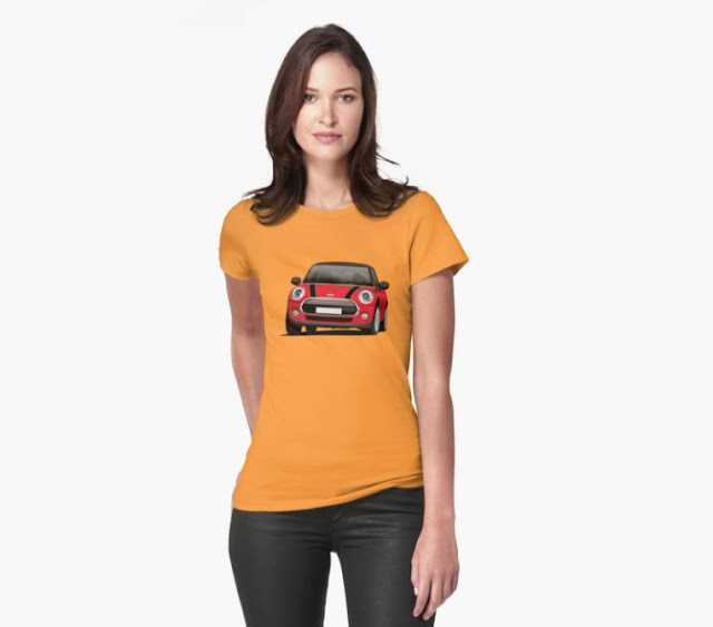 MINI Cooper Hatch illustration t-shirts