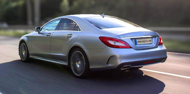 Đuôi xe Mercedes CLS 400 2017 thiết kế lôi cuốn với những đường cong mềm mại và sắc nét