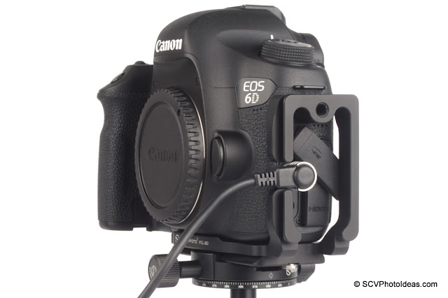 Sunwayfoto PCL-6D L Bracket on Canon EOS 6D w/ remote
