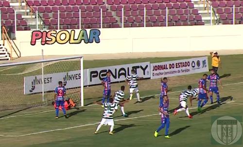 Itabaiana vence o Guarany de Porto na Arena Batistão