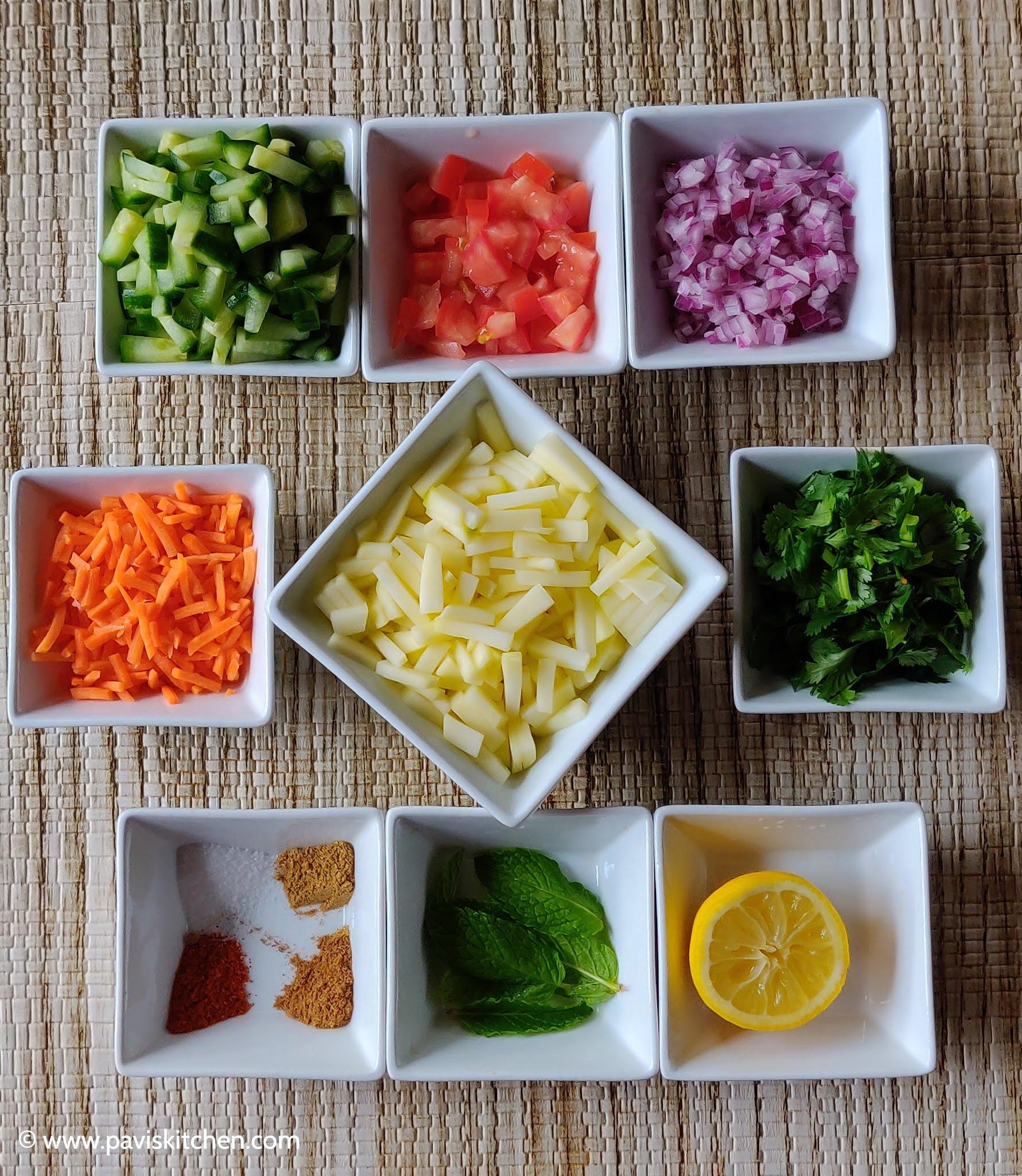 Spicy mango salad recipe | Indian mango salad recipe | Mango kosambari | Raw mango kachumber