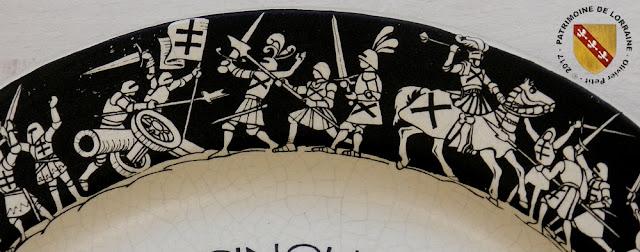 Assiette commémorative de la Bataille de Nancy (1477-1977)