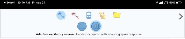 Adaptive excitatory neuron