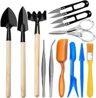 AVIDE 12 Pieces Bonsai Tools Kit,