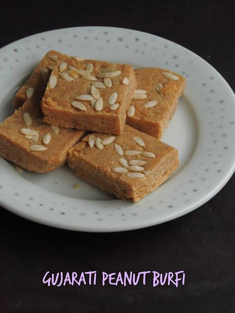 Gujarati Peanut Burfi, Shing paak