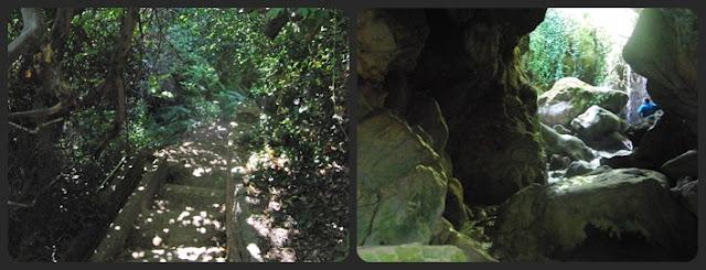 entrada a la gruta de Cuadros