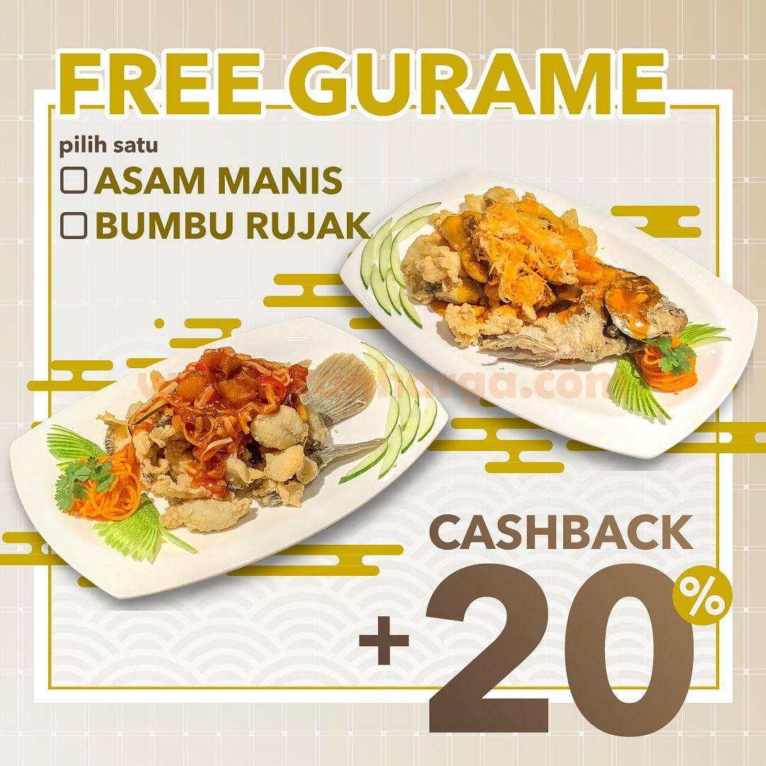 Promo Foek Lam Gratis Gurame + Cashback 20%