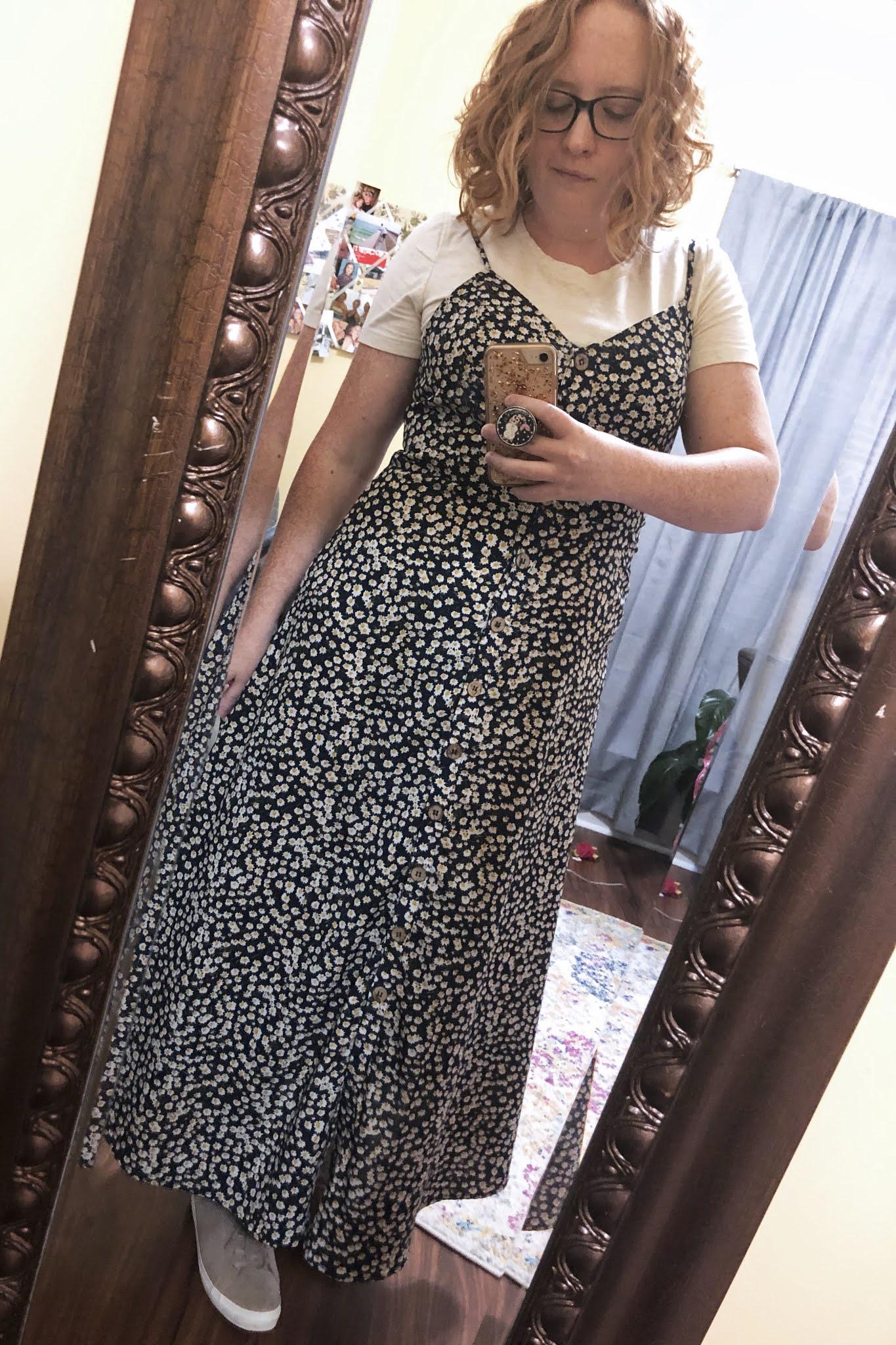 floral maxi slip dress