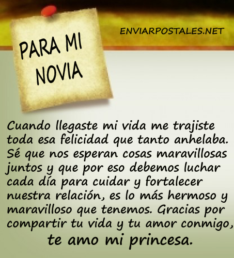 Mira Carta De Amor Para Mi Novia Cortas Marzo 2020