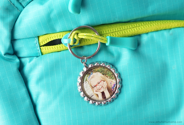 Photo Bottlecap Keychain