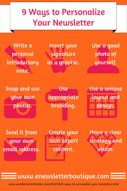 9 ways to personalize your newsletter