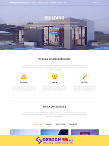 Template blogspot Landing Page Xây dựng VSM72
