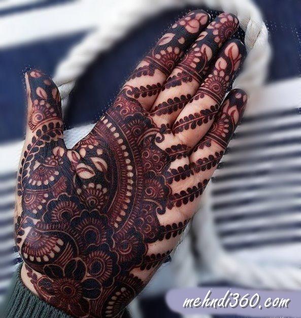 Bold Henna Design Front