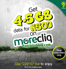 AWOOF DATA: Get 4.5GB Data for Just N500 on 9Mobile MoreCliq Tariff